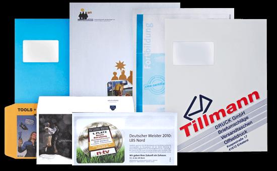 Versenden Sie Ihre Post mit Tillmann-Produkten