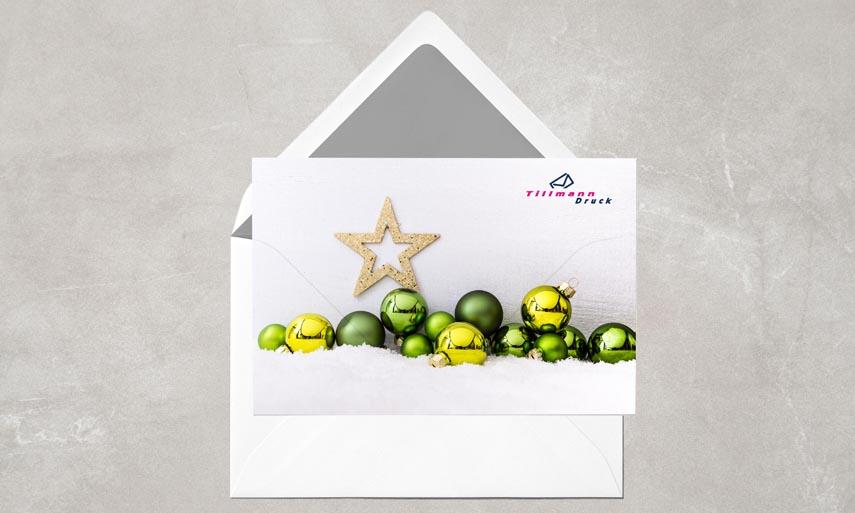 ihr logo auf der spenden weihnachtskarte das i. Black Bedroom Furniture Sets. Home Design Ideas